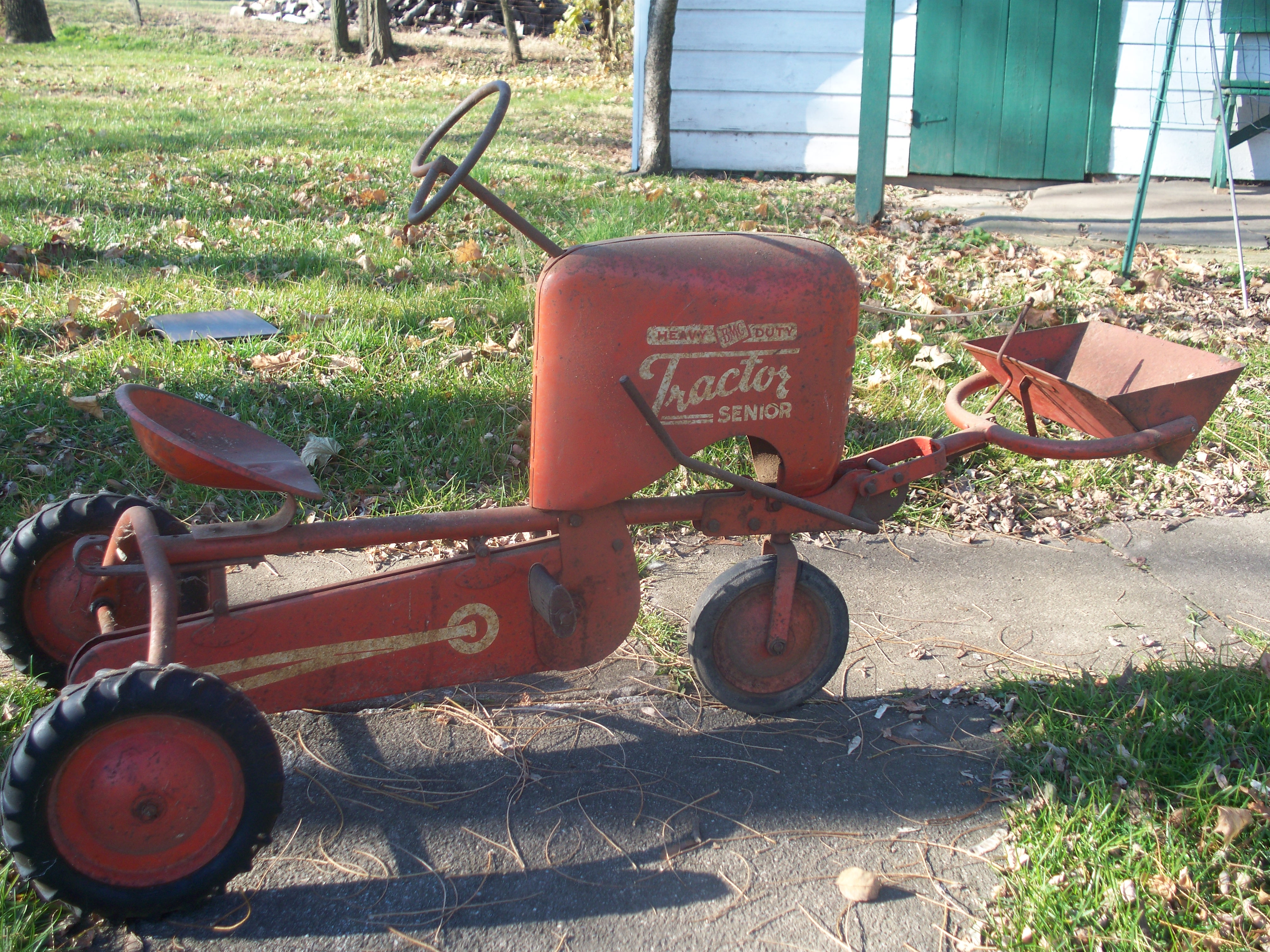 Rare BMC Pedal Tractor With Loader